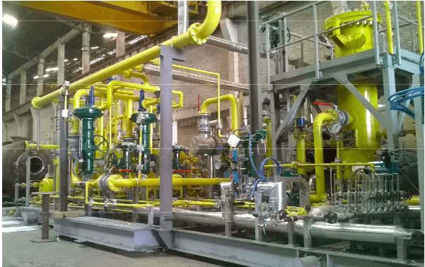 gas conditioning skid process